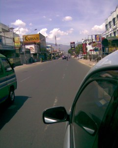 at road